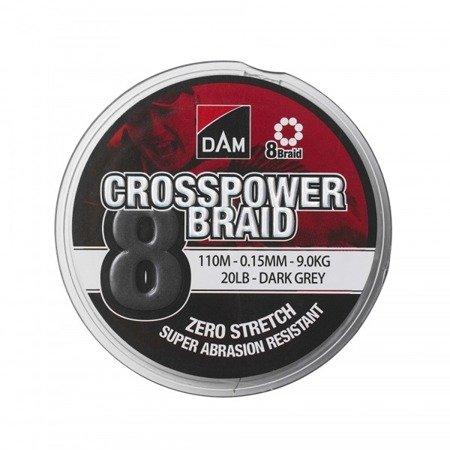 Plecionka DAM CROSSPOWER 8-BRAID 0.13MM/110M
