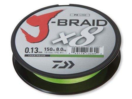 Plecionka Daiwa J-BRAID X8 0.06MM / 150M / CH