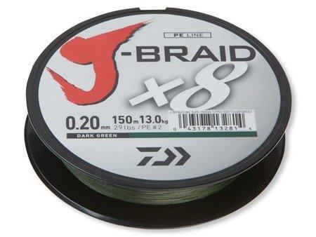 Plecionka Daiwa J-BRAID X8 0.16MM / 150M / DG