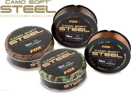 Żyłka Fox Camo Soft® Steel Dark Camo 16lb